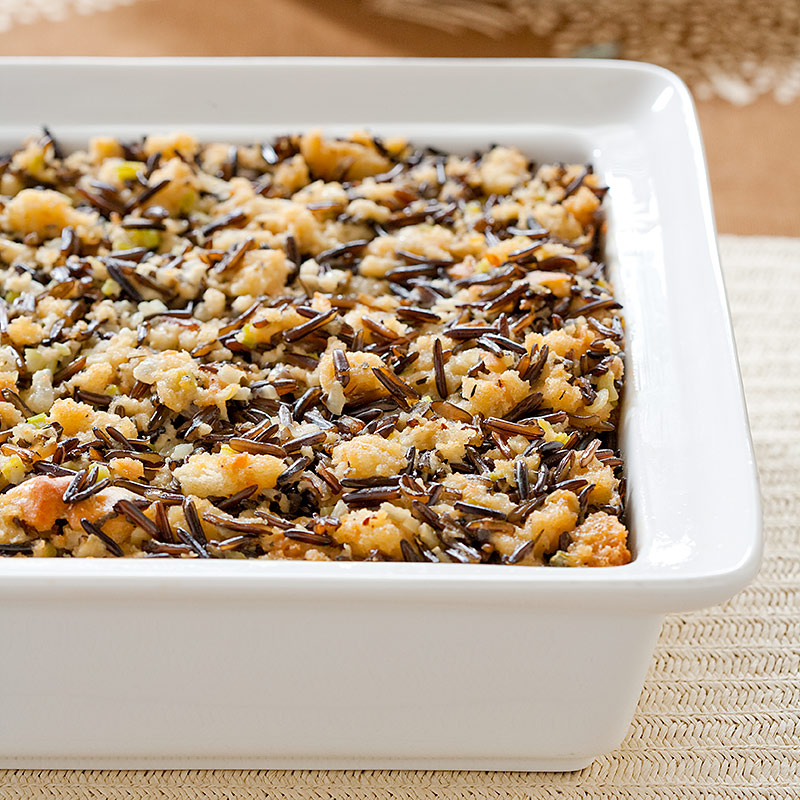 Dried Fruit and Nut Wild Rice Dressing Recipe - Cook's Country