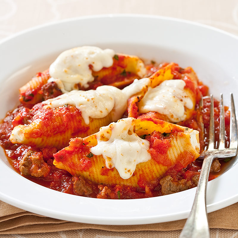 Reduced Fat Stuffed Shells With Meat Sauce Cook S Country