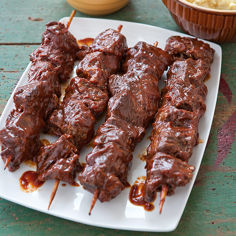 Slow-Cooker Barbecued Beef Tips