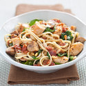 Linguine with Chicken and Mushrooms