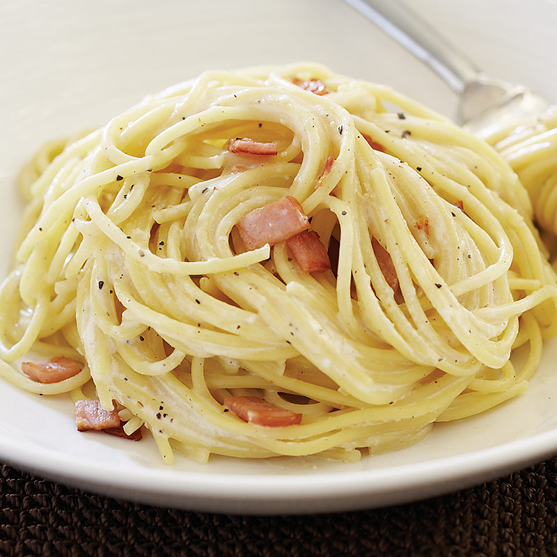 Low Fat Pasta Carbonara 35