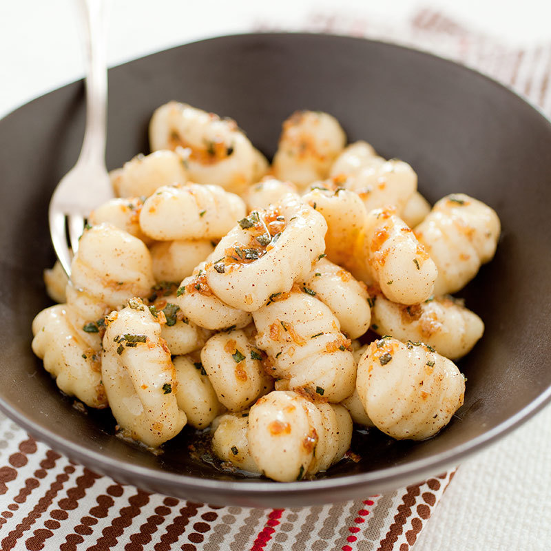 Potato Gnocchi with Browned Butter and Sage