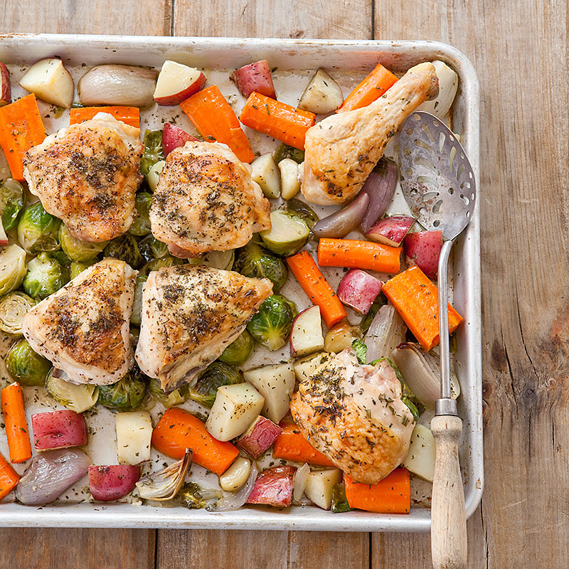 One Pan Roast Chicken With Root Vegetables Cooks Country