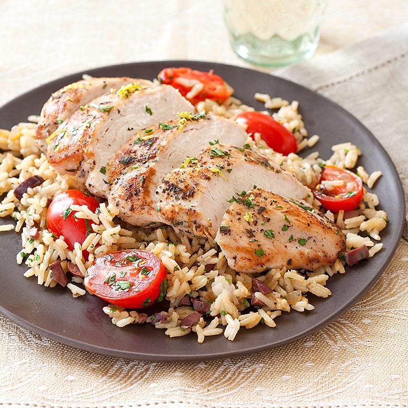 Lemony Mediterranean Chicken and Rice