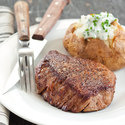 Beef Tenderloin Steaks with Chive Baked Potatoes