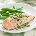 Baked Salmon with Lime Vinaigrette