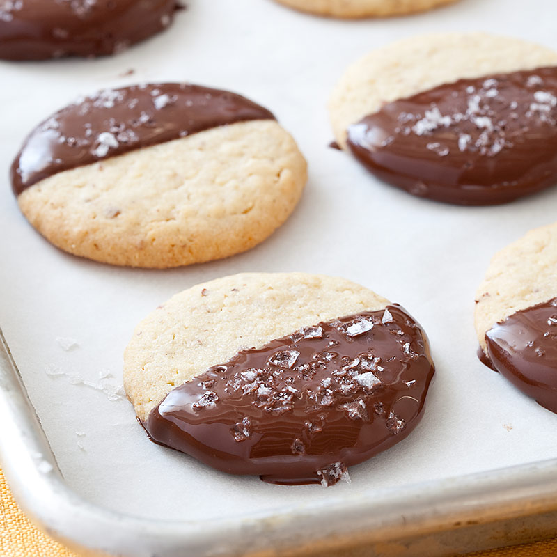Chocolate-Dipped Potato Chip Cookies | Cook's Country