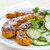 Spicy Grilled Chicken Tenders with Cucumber-Coriander Salad