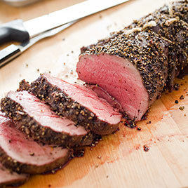 Pepper Crusted Beef Tenderloin America S Test Kitchen