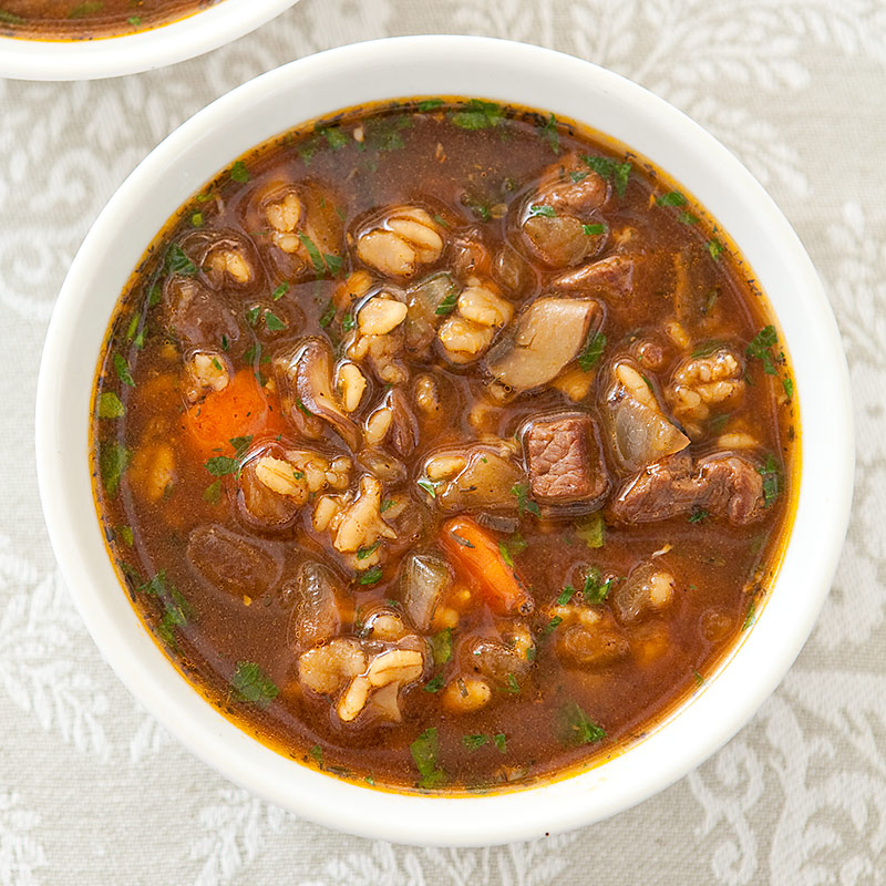 Beef Barley Soup Recipe America S Test Kitchen