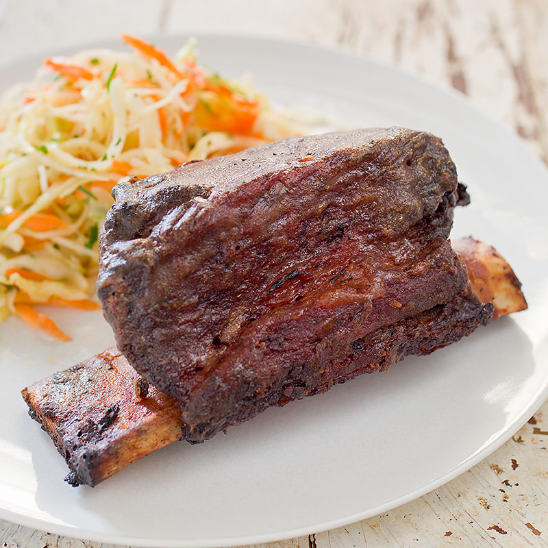 Grill roasted beef short ribs america 39 s test kitchen - Ribs on the grill recipe ...