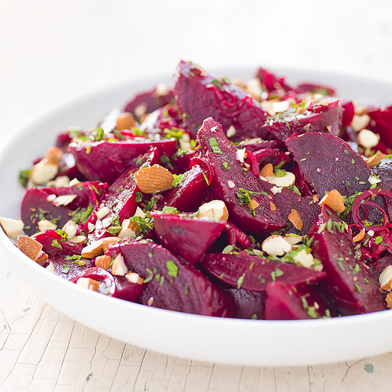 Beets With Lemon And Almonds