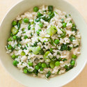Spring Risotto with Peas, Fava Beans, and Arugula