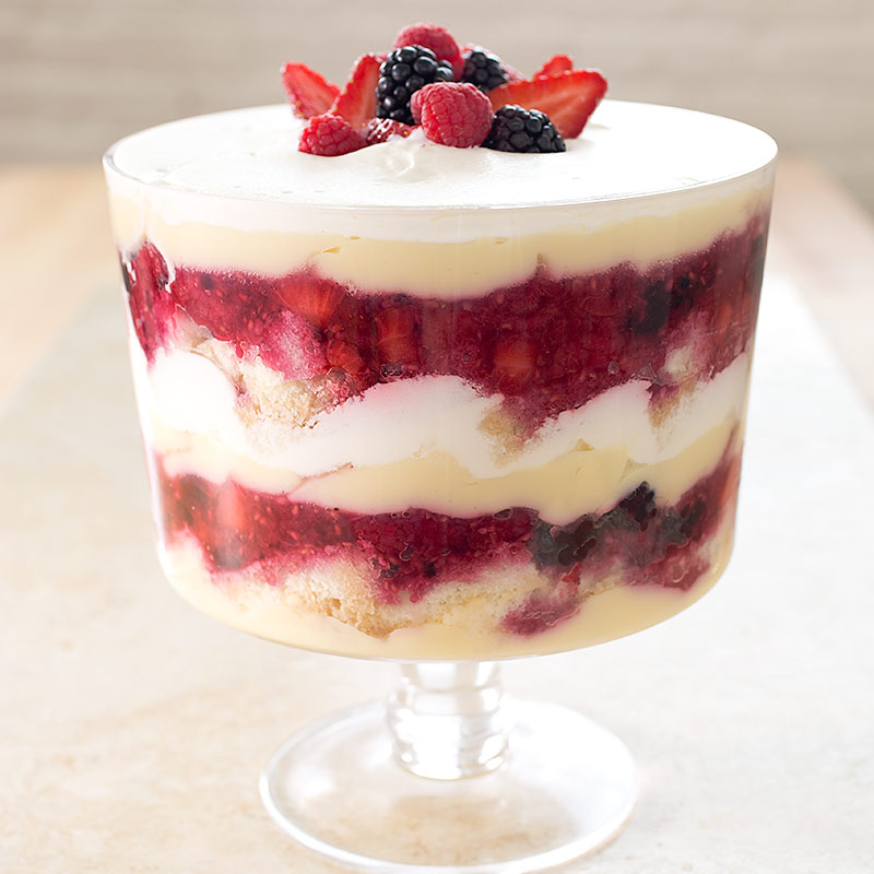 ... berry trifle layers mixed berry trifle with cream mixed berry trifle