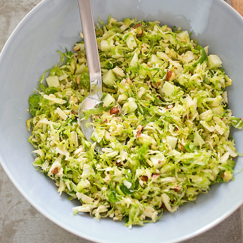 Brussels Sprout Salad with Cheddar, Hazelnuts, and Apple ...