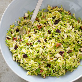 Detail sfs shredded brussel sprout walnut cranberries salad 28 20 3