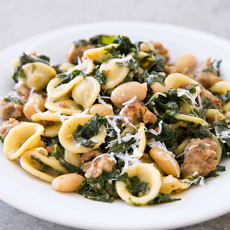 One-Pot Sausage, Kale, and White Bean Pasta Recipe - Cook's Country