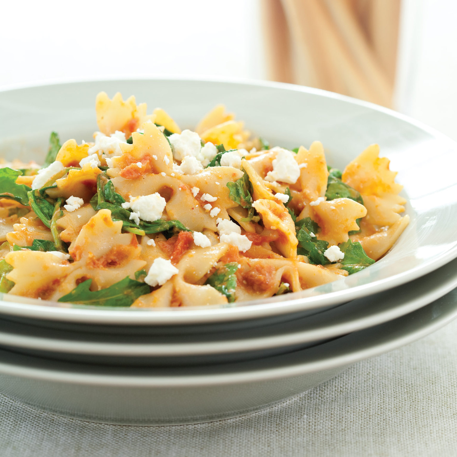 Farfalle with Tomatoes, Olives and Feta