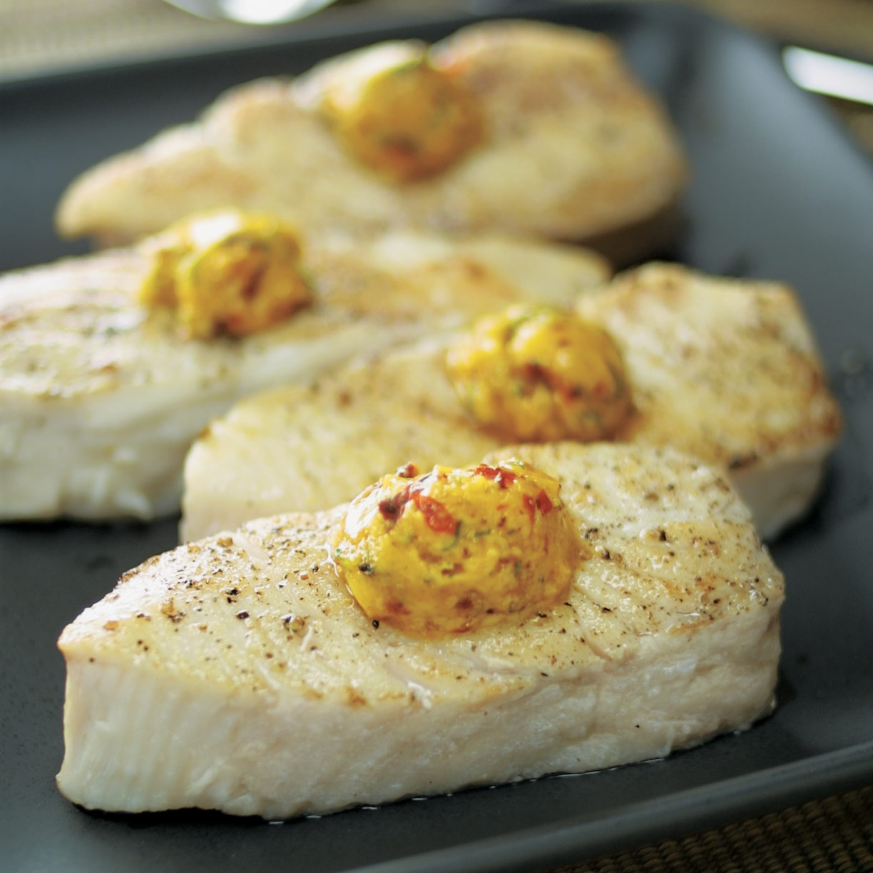 Pan roasted halibut steaks america 39 s test kitchen for How to cook halibut fish