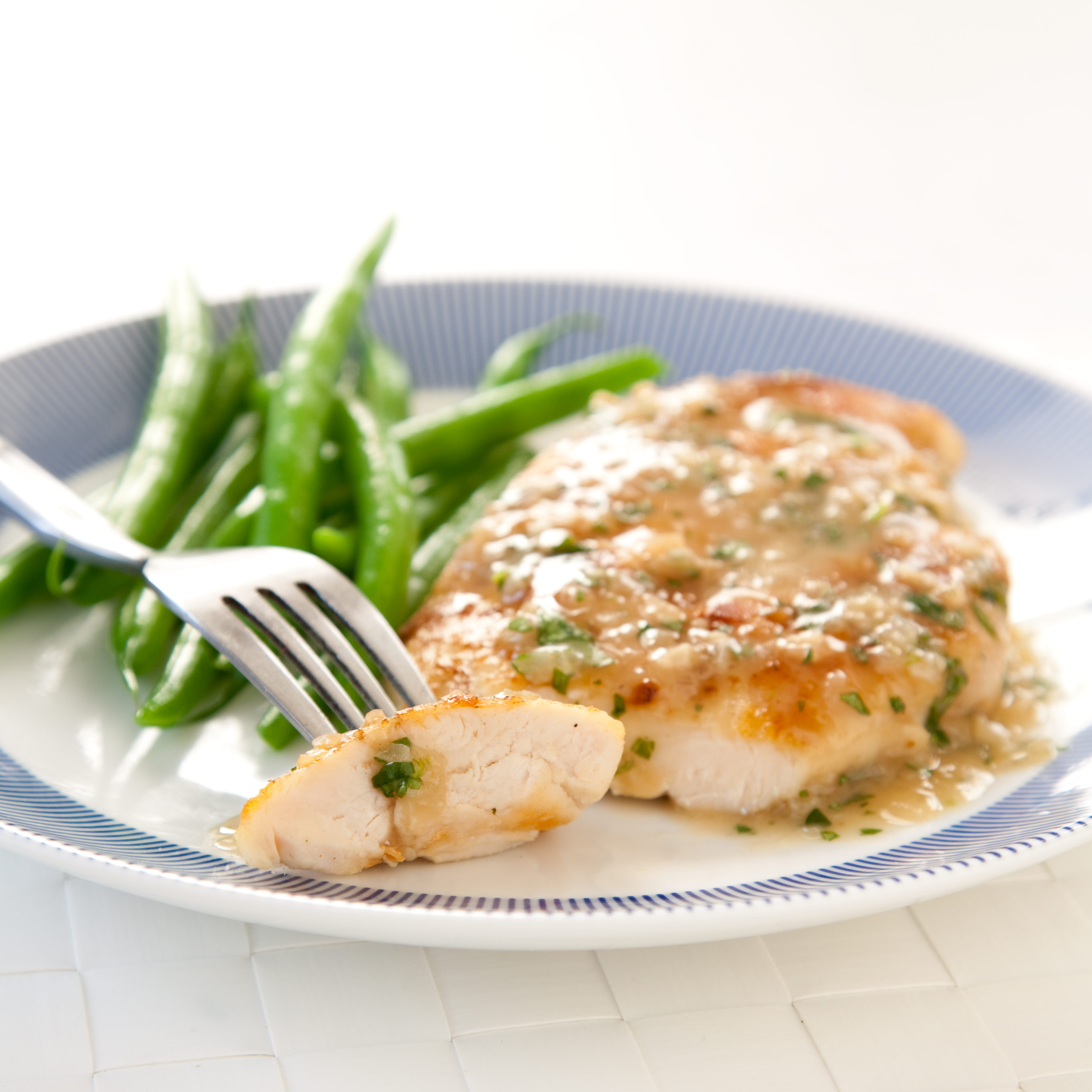 Light Sautéed Chicken Breasts With A White Wine And Herb